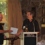 The Mayor of Fairfield Bay presenting a proclamation for Jim Smith Day